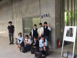 美術部が武蔵野美術大学へ個展を見学に行きました。