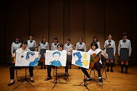 合唱部・マンドリン部がギターアンサンブル演奏会に友情出演。