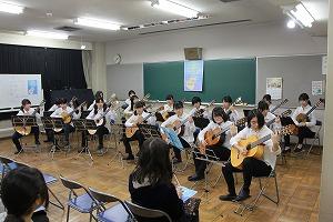 ギター・マンドリン部がジョイントコンサートを実施しました