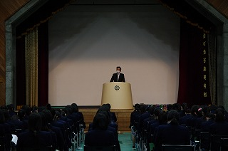 1・2年生 特別講座「校長講話」の授業を受けました